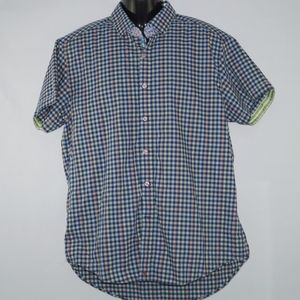 Robert Graham X Mens Plaid Short Sleeve Size XL